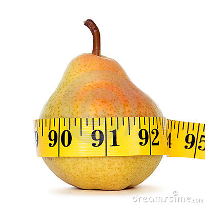 Free Pear With Measure Tape Royalty Free Stock Photos - 18900168