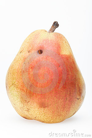 Pear with worm hole