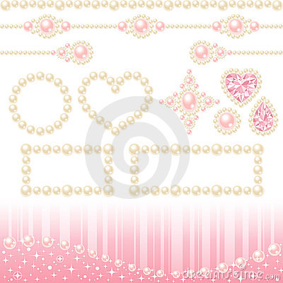 Free Pearl Decoration Stock Photography - 17499512