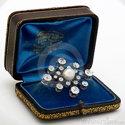 Pearl and Diamond Brooch Editorial Image
