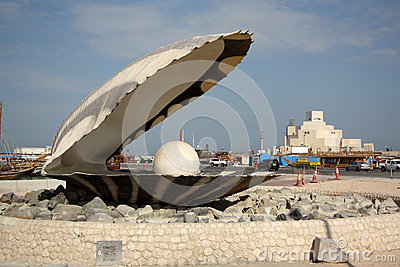 The Pearl Monument in Doha, Qatar Editorial Photography