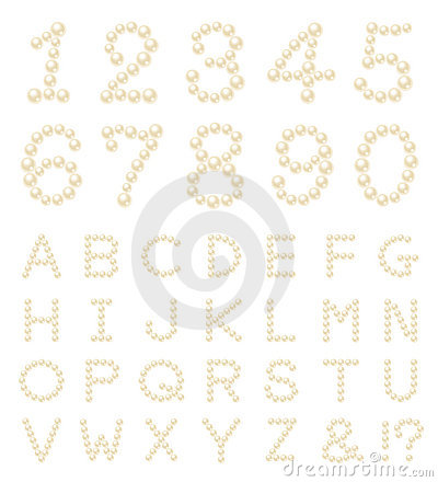 Pearl number alphabet