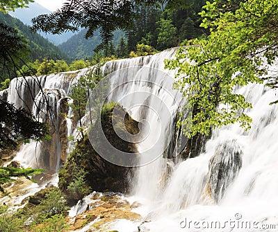 Pearl shoal waterfall jiuzhai valley summer