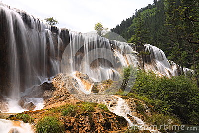 Pearl shoal waterfall jiuzhai valley summer