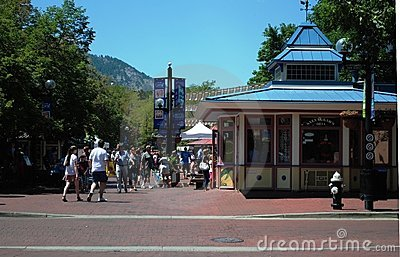 Pearl Street - Boulder, Colorado Editorial Image