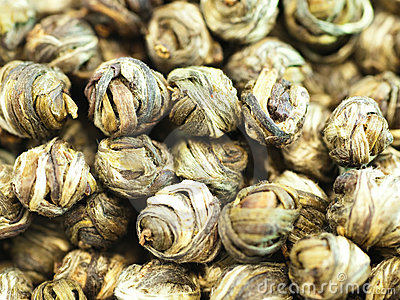 Pearls of Chinese green tea