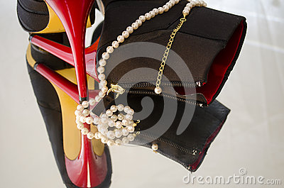 Pearls and high heels