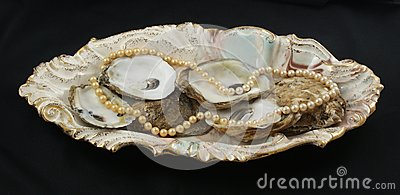 Pearls and oyster shells