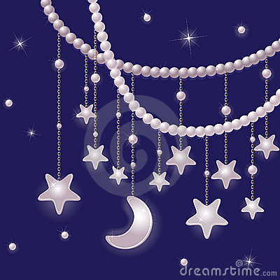 Pearls and shiny stars