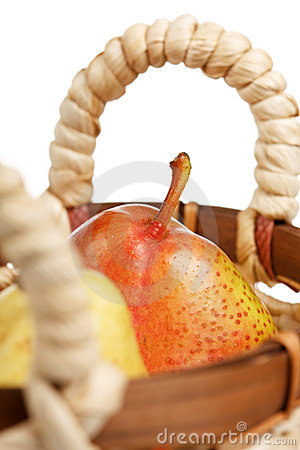 Pears in the basket