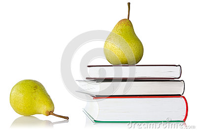 Pears and books
