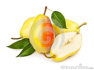 Pears cut leaf