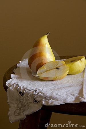 Pears on serviette.Still Life