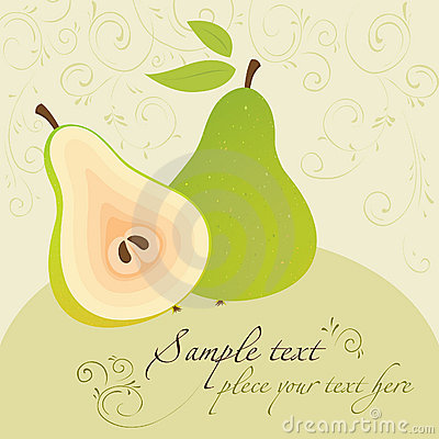 Pears. Template for Design