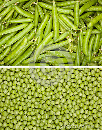 Peas background