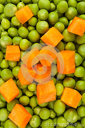 Peas and carrot mix