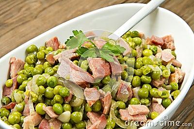 Peas with  ham