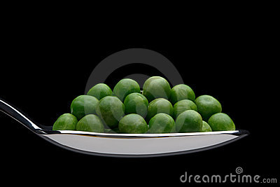 Peas on a spoon