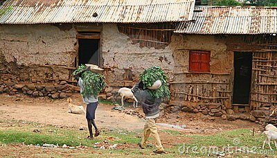 Peasants in Ethiopian village