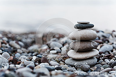 Pebble on beach