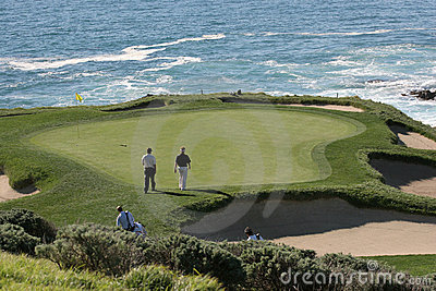 Pebble Beach golf hole 7 Editorial Photography