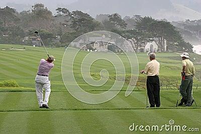 Pebble Beach golf hole 9 Editorial Photography