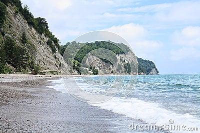 Pebble beach landscape