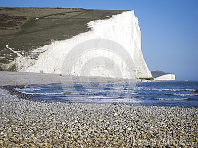 Pebble beach sussex coast england
