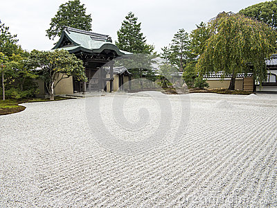 Pebble garden at Ryozen Kannon memorial