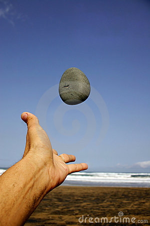 Pebble and Hand