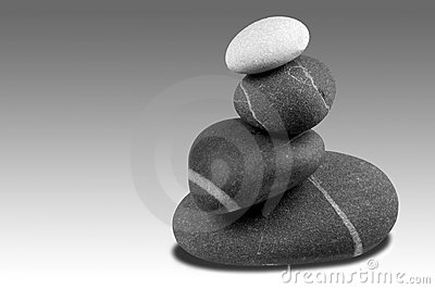 Pebble sculpture Greyscale