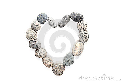Pebble stone in heart shape