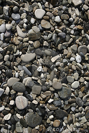Pebble stones on beach