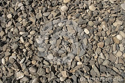 Pebble texture small pebbles. gravel, building material or trash Stock Photo