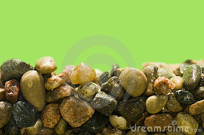 Pebbles in Aquarium