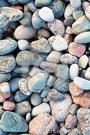 Pebbles on a shingle beach in Iona, Scotland