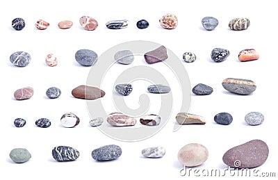 Pebbles on wite