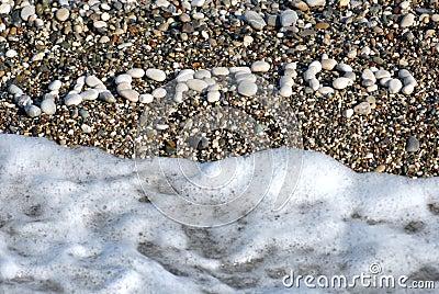 Pebbly inscription vacation