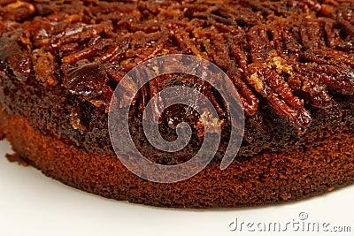 Pecan cake with fresh pecans