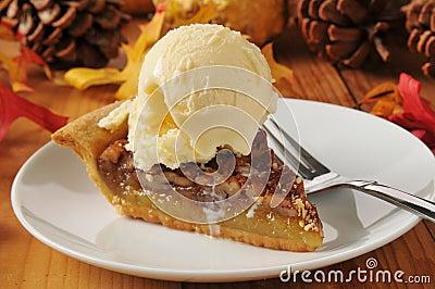 Pecan Pie A La Mode Royalty Free Stock Images Image