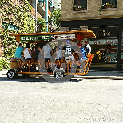 Free Pedal Bar On The Street In Milwaukee, WI, USA Royalty Free Stock Images - 106039169