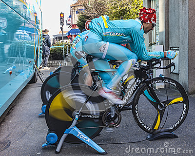 Pedalling rápido Foto de Stock Editorial