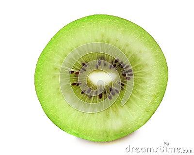 Pedazo de fruta de kiwi