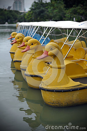 Peddle Boats on a Lake