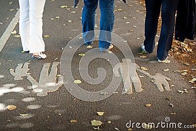 A pedestrian area
