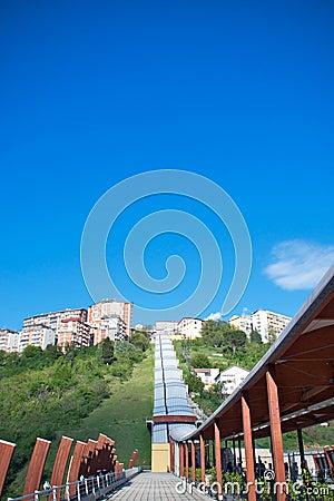 Pedestrian bridge, Potenza, Italy Editorial Stock Photo