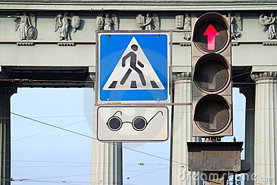 Pedestrian crossing for blind people
