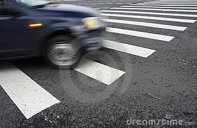 Pedestrian Crossing At A Crossroads Stock Images - Image: 21004484
