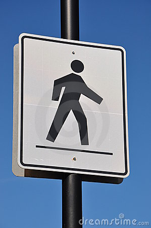 Free Pedestrian Crossing Road Sign Royalty Free Stock Photo - 21167285