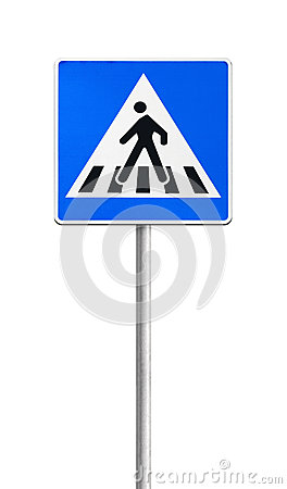 Free Pedestrian Crossing Road Sign Stock Photos - 33164373